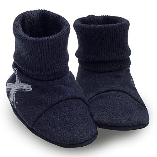 Sapatos De Bebê Pinokio -xavier- - Azul / Preto Ou Azul-turquesa-nascidos Escuras Puschen Sapatos Iniciais Rastreamento, Chinelos Jovens Meninos Azul Escuro
