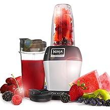 Ninja BL450 Batidora de vaso 900W Negro, Plata - Licuadora (Batidora de vaso,