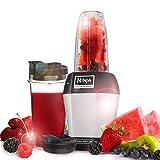 Ninja BL450 Batidora de vaso 900W Negro, Plata - Licuadora (Batidora de vaso, Negro, Plata, 21000 RPM, 900 W)