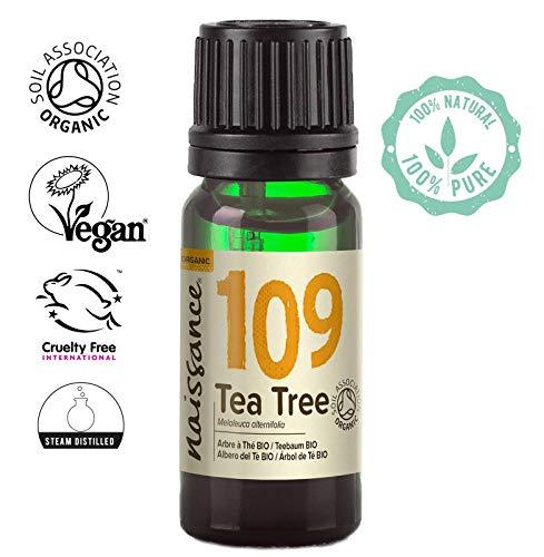 Naissance Teebaumöl Bio (Nr. 109) 10ml - 100% naturreines ätherisches Öl, natürlich, Bio-Zertifiziert, vegan -