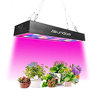 [Upgraded]ASUNDOM Grow Light, Panel Full Spectrum UV & IR 36W Grow Lights Aluminum Made with Daisy Chain for Hydroponic Indoor Plants Seeding Growing, Germination & Flowering