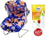 Cheesy Cheeks Honey Bee Carry Cot 10 In1 Print May Vary With Cussions Liquid Cleanser Free Blue
