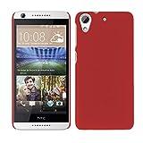 HTC Desire 626 / 626G Dual Sim - Rubber Schutzhülle Gummiert Hybrid Hard Case Schutz Cover Etui Hülle Tasche in Rot - RT-Trading
