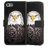 DeinDesign Apple iPhone 7 Tasche Leder Flip Case Hülle Adler Bird Vogel