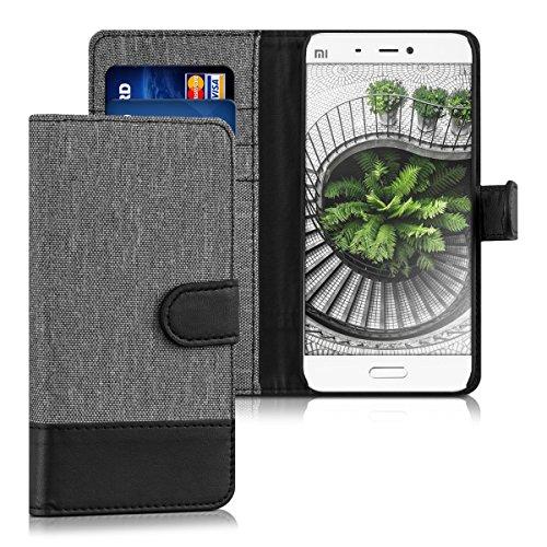 kwmobile Xiaomi MI5 Hülle - Kunstleder Wallet Case für Xiaomi MI5 mit Kartenfächern und Stand