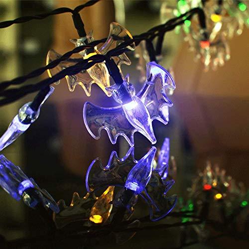 Adenlbahr Halloween Lichterkette LED Schnurlicht Geist Licht