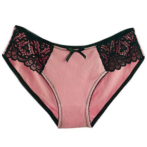 Damen 5er Pack Komfort Spitze Slip Low Rise Bikini Hipster Set2