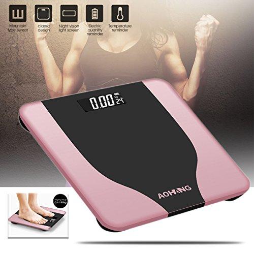 Tutoy Ooudoorholmark Elektronisch LCD Digital Körpergewicht Waage Fitness Fat Gesunde Schönheit-Pink