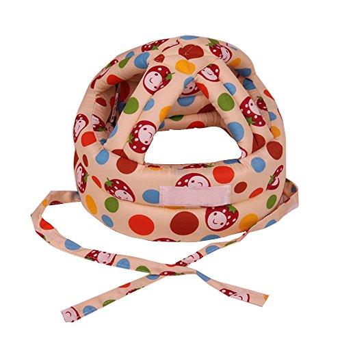 Eizur Unisex Bebè Cappello Protezione della Testa Casco Traspirante Bambini Sicurezza Cappello Resistenza goccia Berretto Copricapo protettivo Taglia L - Giallo