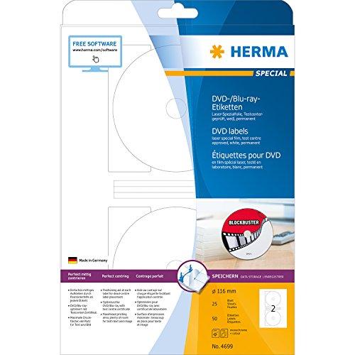 Herma 4699 - Etiquetas para impresoras (50 unidades), blanco