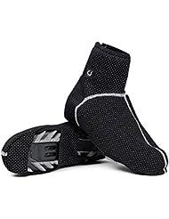 Techway Thermo-Warm Fleece Radfahren Wasserdicht Winddicht, Schuhe Cover Fahrrad Überschuhe