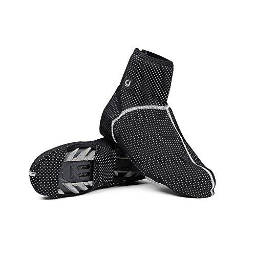 Techway Thermo-Warm Fleece Radfahren Wasserdicht Winddicht, Schuhe Cover Fahrrad Überschuhe, XL UK Size 8.5-10.5 (Thermal-shirt Flag)