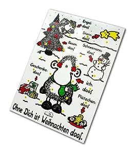 """Sheepworld Adventskalender """"Ohne Dich ist Weihnachten doof"""", 1er Pack (1 x 75 g)"""