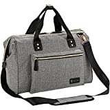 Baby Changing Bag, RUVALINO Large Nappy Bags with Changing Pad and Insulated Pocket For Mom & Dad (Gray)