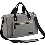 Large Baby Changing Bag/Shoulder Bag, Weekend Bag, Diaper Tote Bag with Changing Mat and Insulated Mum and Dad