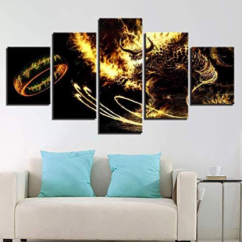 Canvas Le Seigneur des Anneaux Impression sur Toile Moderne Home Decor Toiles Toiles Picture Art HD Imprimer Peintures Œuvres,A,30 * 50 * 2+30 * 70 * 2+30 * 80 * 1