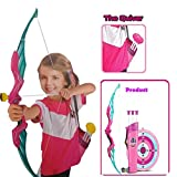 #10: Kings Sport Archery Set with Bow, Quiver & Shooting Target for Olympian Kids Pink