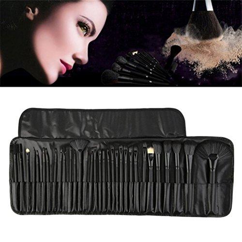 32pcs pinceau professionnel Set Pack Fondation visage Blush Brush Set maquillage outil (couleur: noir)