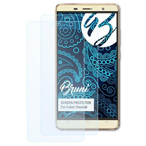 Bruni Schutzfolie kompatibel mit Cubot Cheetah Folie, glasklare Bildschirmschutzfolie (2X)