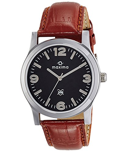 Maxima Analog Black Dial Men's Watch - O-44689LMGI