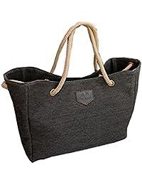 HENGSONG Sac à Main Toile, Grand Sac Voyage/Shopping Sac pour Femme