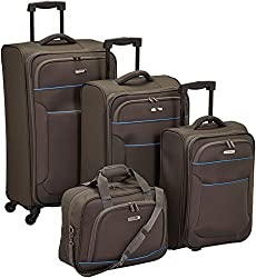 "Travelite Set de bagage ""Derby"" 4 pcs anthracite Koffer-Set, 77 cm, 68 liters, Schwarz (Anthracite)"