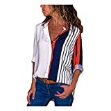 Hotsellhome Fashion Womens Loose Tops Clothes Casual Long Sleeve Stripe Button T Shirts Blouse Hoodie Sweatshirt Jumper Hooded Pullover Coat Outwear