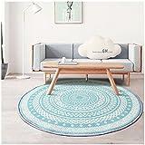 Everyday home- Drehstuhl Rundteppich Feuchtigkeitsaufnahme Nordic Blue Antirutschdecke (Farbe : Bunte, größe : 200cmX200cm)