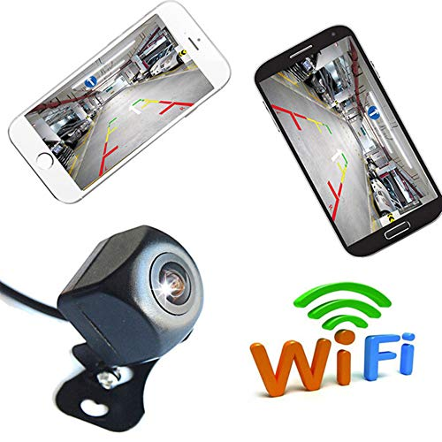 WANGOFUN Mini WiFi Backup Kamera 1080P Full HD Wireless Rückfahrkamera Einparkhilfe Nachtsicht Unterstützung Aufnahmefunktion auf APP für iPhone/Android Handys