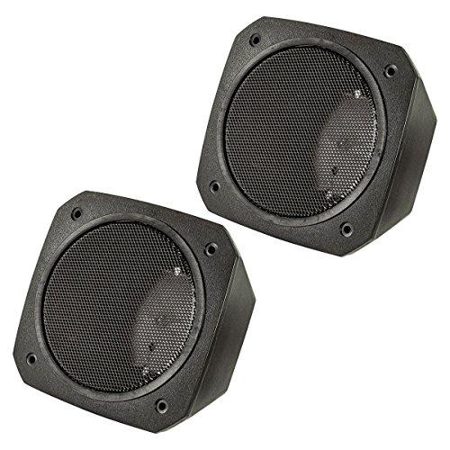 tomzz Audio ® 2800-017 Aufbau Lautsprecher Gehäuse für 100x100 mm DIN Lautsprecher, Retro, KFZ, Boot, LKW, Baumaschinen