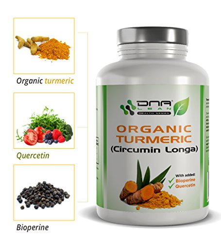 DNA-Lean-ORGANIC-TURMERIC-Curcumin-Longa-and-Black-Pepper-extract-Bioperine-with-Quercetin-for-enhanced-absorption-120-x-600mg-vegetable-capsules-NON-GMO-vegan-friendly-made-in-the-UK