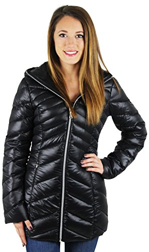 Jessica Simpson Damenjacke, Daunenjacke, lang, zusammenpackbar Gr. XXL, schwarz