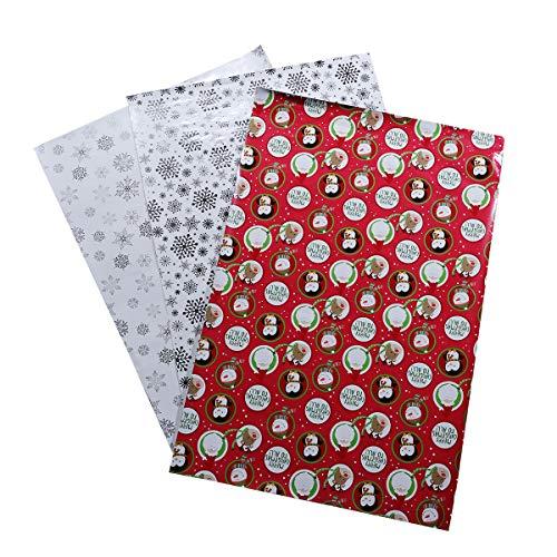 STOBOK 15 Blätter Geschenkpapier Holiday Flower Book Wrapping Crafting Scrapbooking Paper