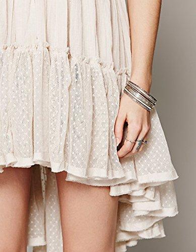 ZEARO Damen Sommerkleid Sexy Partykleid Strandkleid Minikleid Weiß