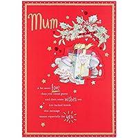 Hallmark Mum Christmas Card 'Happy Christmas'- Medium