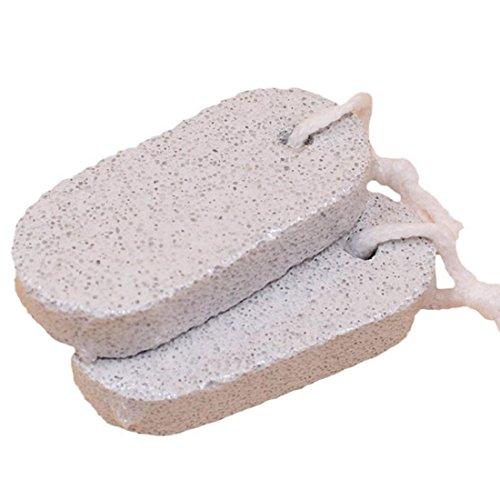 Cuticule Remover Pierre Naturelle - TOOGOO(R)2PCS Pieds Soins Peau Dure Cuticule Remover Pedicure Pied Pierre Ponce Naturelle Bath