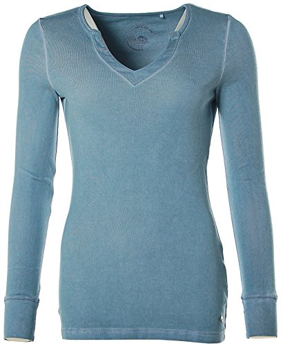 FLASHLIGHTS Damen Langarmshirt Longsleeve Blau
