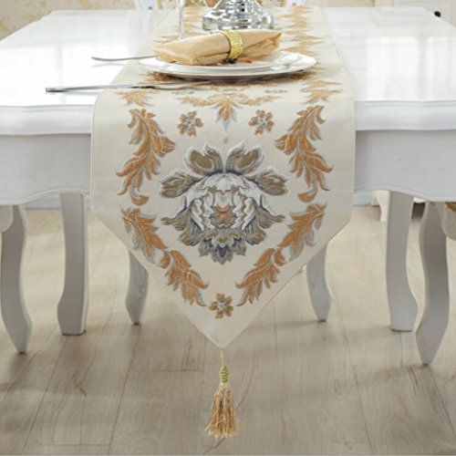 Luxus Palast Stickerei Tischfahne Tabelle table Flagge Tuch Mode Western Tischfahne 33*180cm ()