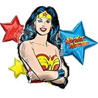 "Anagram 38180 Wonder Woman Foil Mylar Party Balloon, 33"", Multicolor, Pack of 1"
