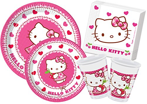 Ciao Y4307-Kit Party in Tisch Hello Kitty Hearts, Pink/Weiß