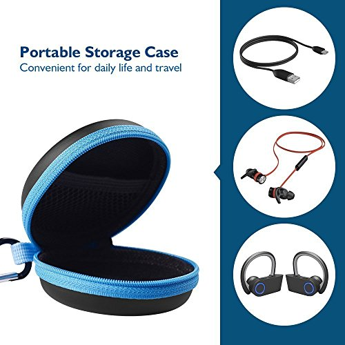 Mini Kopfhörer Tasche mit Schnalle, HiGoing Headset ohrhörer Schutztasche für In Ear Ohrhörer, MP3 Player, iPod Nano, Schlüssel, Lovely Macarons Aussehen (Innenmaß 6.8cm x 6.8cm x 4.0cm) - 4