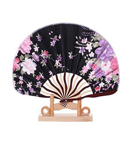 Sumolux Chinesische Handgefertigt Vintage Blumen Muster Handfächer Fächer (Kostüme Tanzabend Muster)