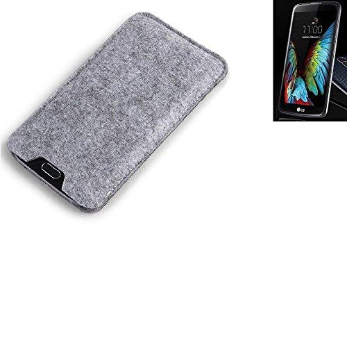 K-S-Trade Filz Schutz Hülle für LG Electronics K10 (3G) Schutzhülle Filztasche Filz Tasche Case Sleeve Handyhülle Filzhülle grau