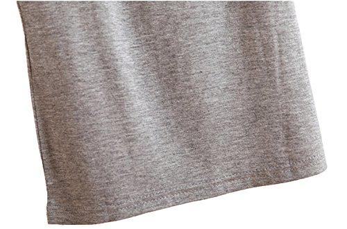 WENSENY Donna BXJ Casual Canotta Senza Maniche T Shirt Grigio