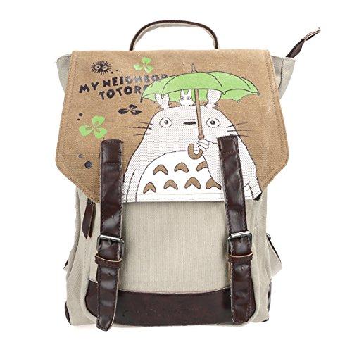4af67fac55 CoolChange Mochila de Lino de Totoro con Compartimiento Interior Espacioso