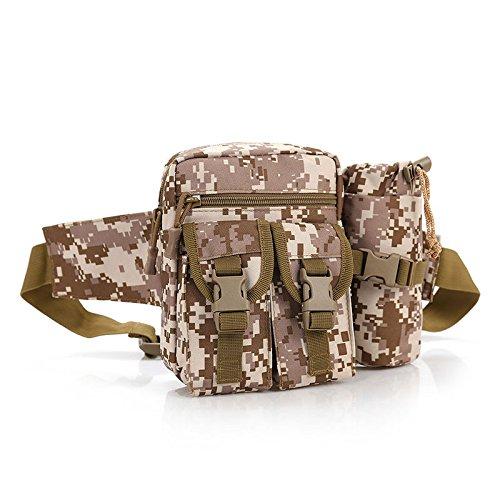 &zhou Kleine Taschen mit Wasserkocher für Verwendung im freien Männer und Frauen kombiniert Geldbörsen Bewegung Schulter Umhängetasche desert