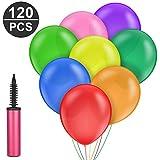 120 Stück Luftballons und 1 Ballonpumpe, Furado Party Helium Luftballons, Ballon und Luftpumpe, Ballonpumpe, Luftballon, Partyballon, Farbige Ballons,Bunte Ballons für Geburtstagsfeiern, Party, Hochzeitsfeiern