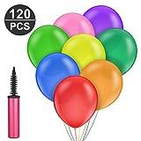 120 Stück Luftballons und 1 Ballonpumpe,Furado Party Helium Luftballons,Ballon und Luftpumpe,Luftballon,Partyballon,Farbige Ballons,Luftballons Bunt für Geburtstagsfeiern,Party,Hochzeitsfeiern