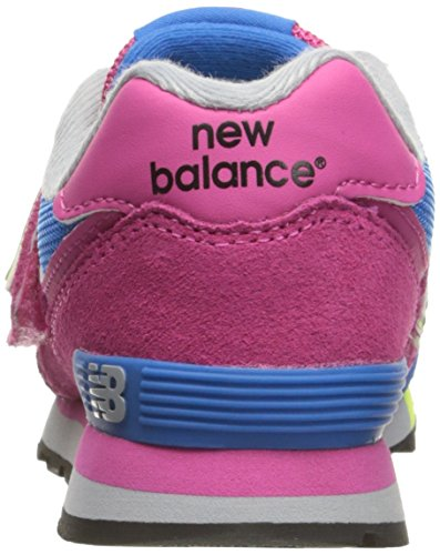 New Balance Kv574wai M Hook and Loop, Baskets Basses Mixte Enfant rose bonbon
