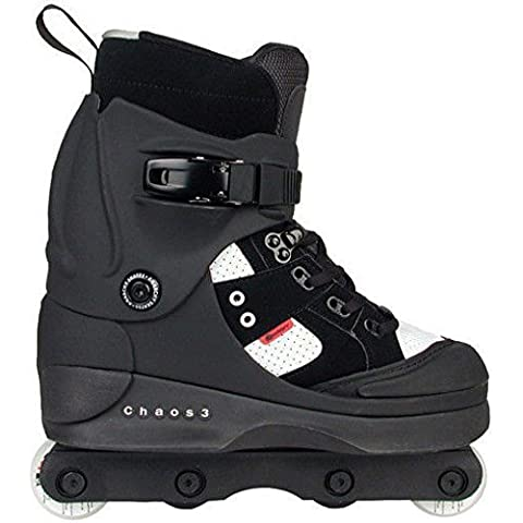 Anarchy Chaos 3 Aggressive Skates - Black - Size UK11 by Stateside Skates